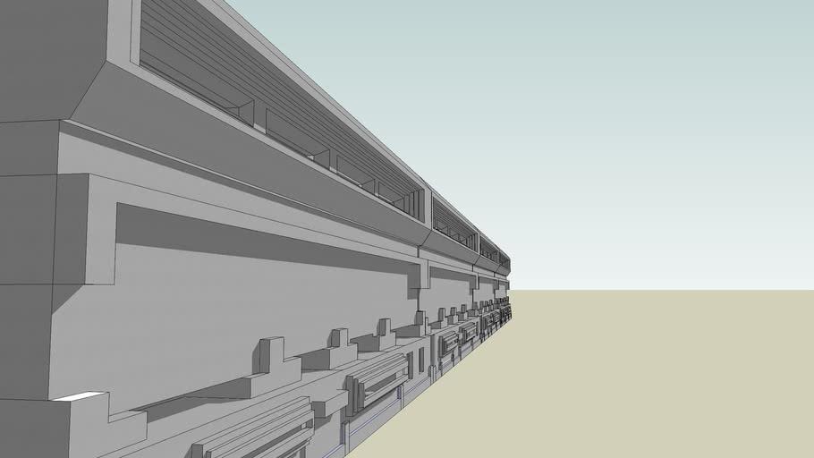 A Wall of newer Militariy Designs HEAVY FORTRESS WALL