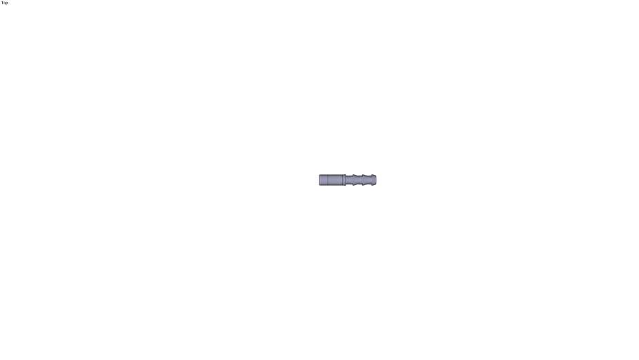 3622 - PLUG-IN BARBED CONNECTOR DIAM D1 8 MM DIAM D2 63 MM DIAM D3 83 MM