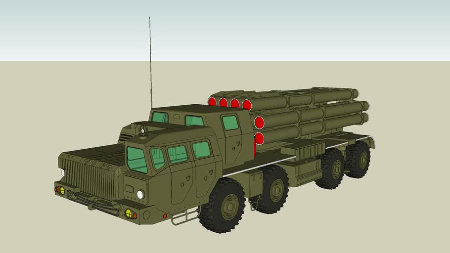 rocket launcher 9a52 Smerch2