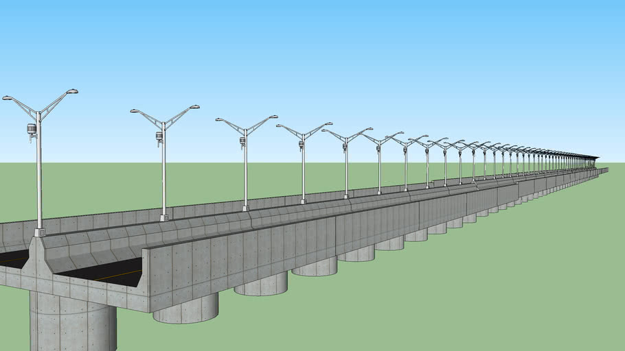 A Long elevated highway