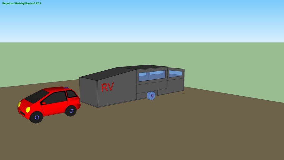 sketchyphysics  smart car pulling a 5th wheel