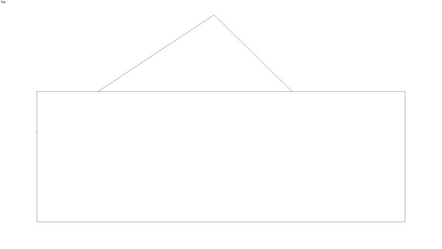 Casa com Telhado em triângulo