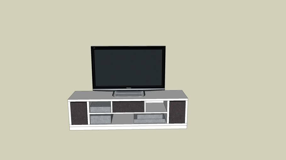 Flatscreen Tv Meubel.Tv Meubel 3d Warehouse