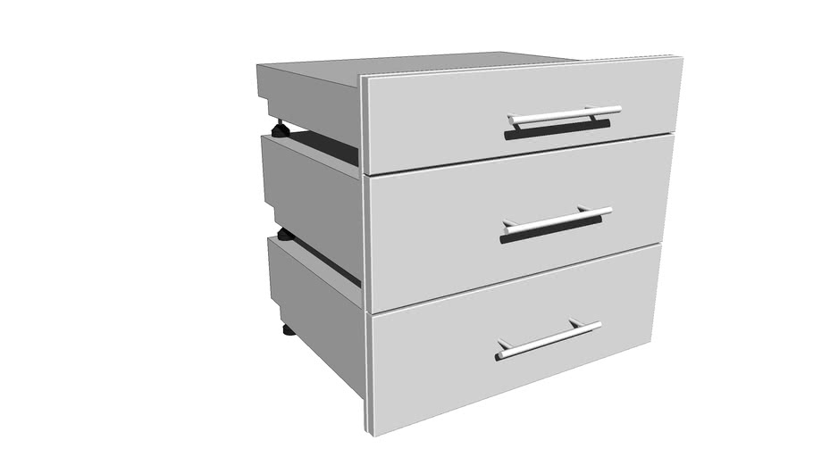 "Designer Series 30""W x 26.5""H  2 Medium Drawer 1 Small Height Drawer Set DE-MD30"