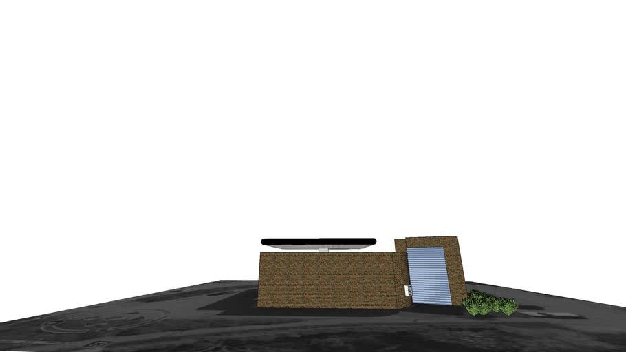 Texaco tankstation: De poort