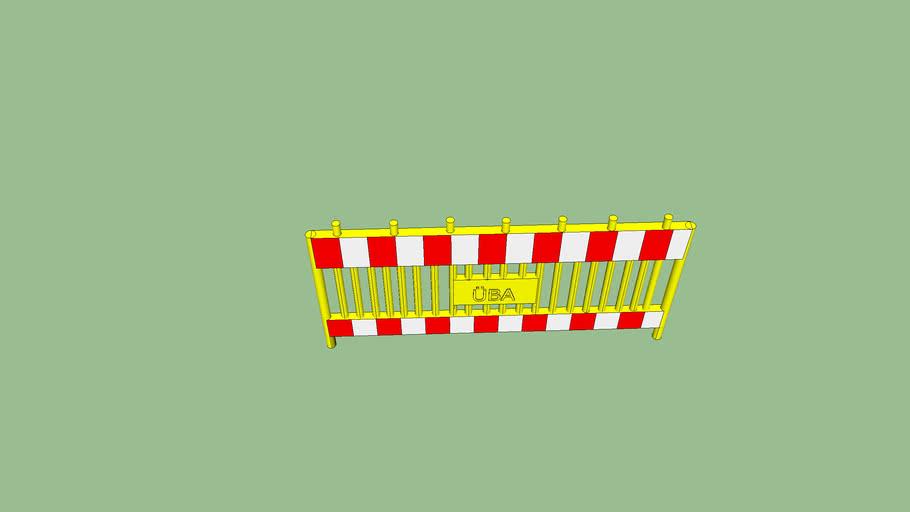 Absperrgiter Plastik (Gelb)