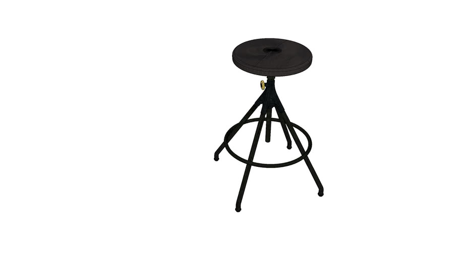 AKRON COUNTER STOOL WITH LEATHER SEAT M215-C-T