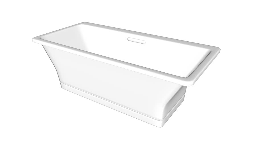 "K-819-F62 Reve(R) 67"" x 32"" freestanding bath with Brilliant Blanc base"
