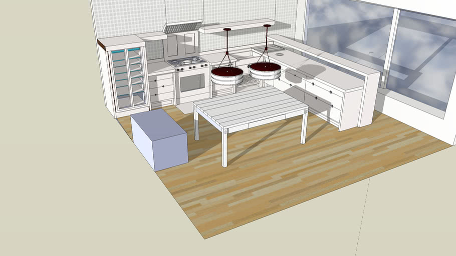 Kitchen with table Nacho y pine
