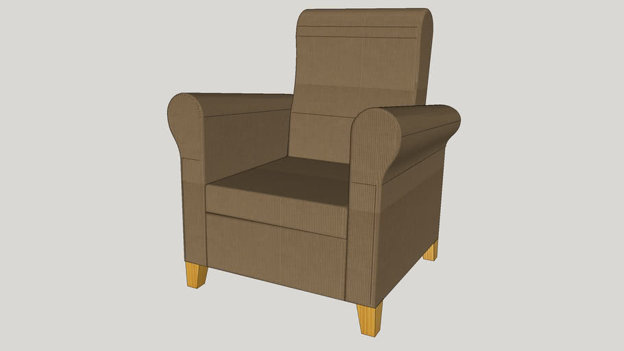 Fauteuil inclinable Ikea Ikea reclining armchair | 3D ...