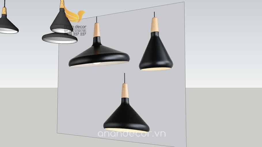 Đèn thả chao đuôi gỗ hiệnđại An An Decor ( Modern hanging light)