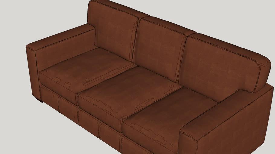 Pratt Leather Sofa 3d Warehouse