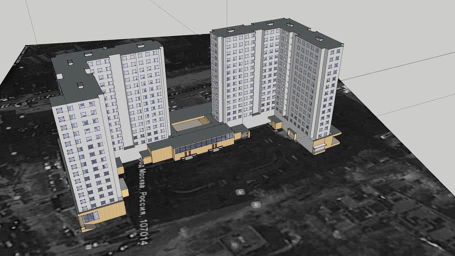 17-ти этажное здание по Сокольнической площади, д.9