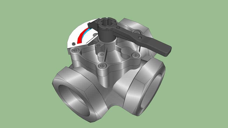 Valvola miscelatrice attacchi filettati - Mixing valve with threaded connections