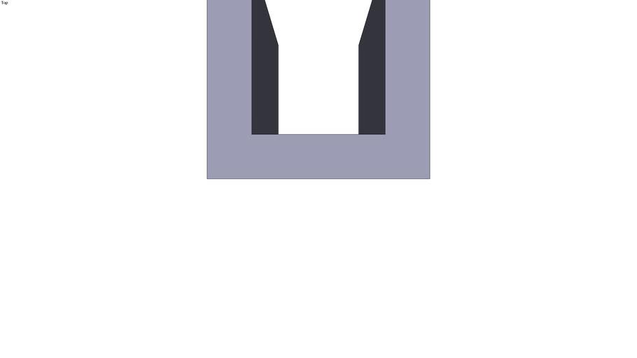 Grey cast-iron U section - 100 x 100 x 200 mm