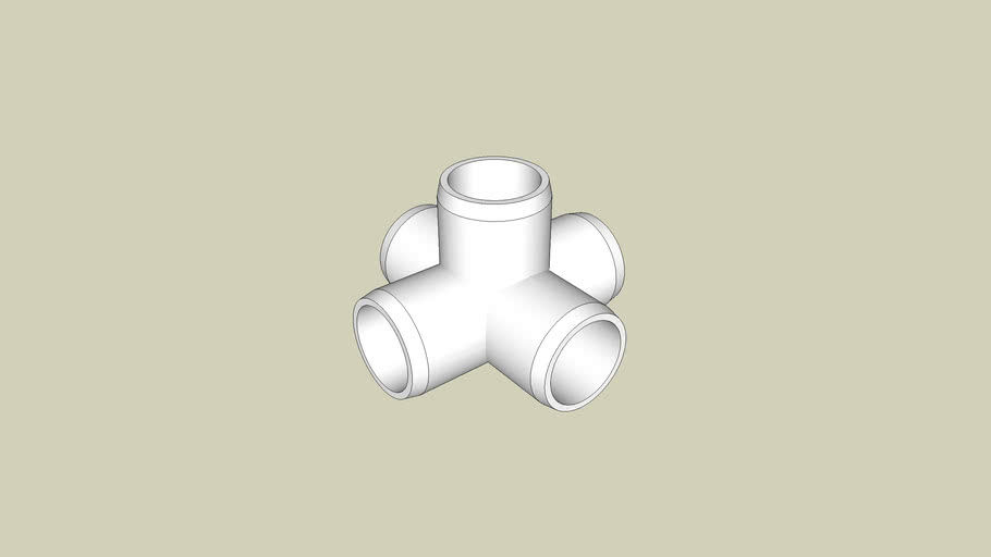 1/2 in. 5-Way PVC Cross - FORMUFIT