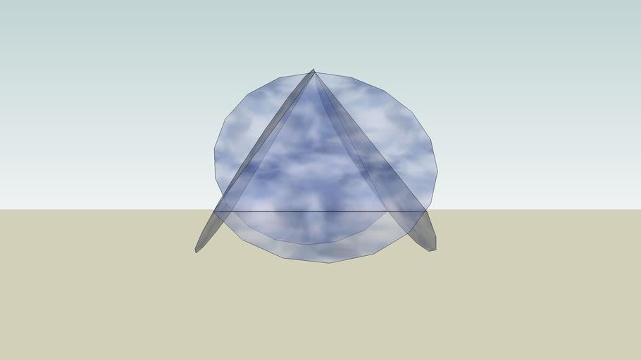 Pyramid with vanes