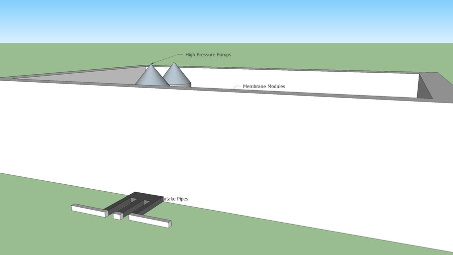 Reverse Osmosis Plant Part (Sketch 2)