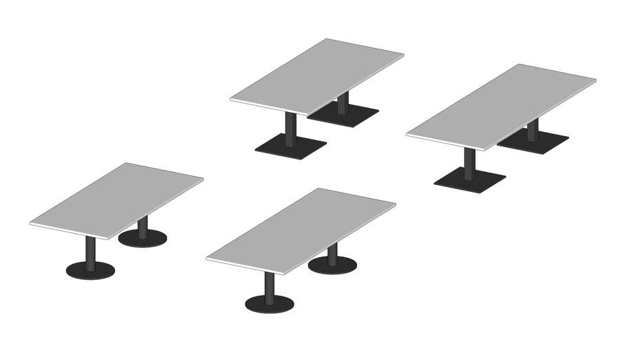 System rechthoekige conferentietafels