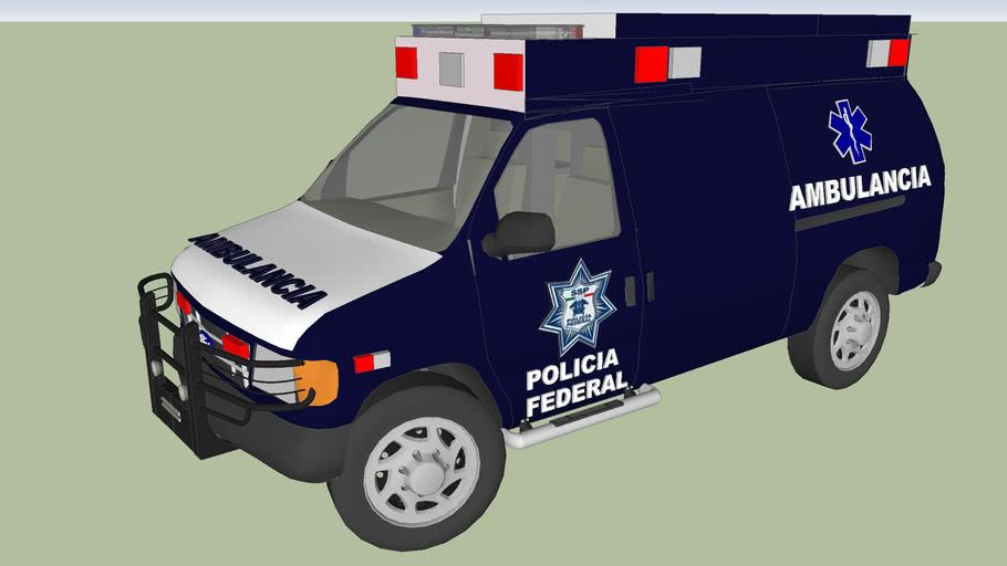 ambulancia  de la policia federal preventiva pfc pfp ssp