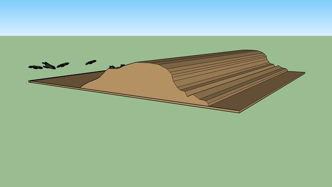 desert terrain with a trench 4 King Rakoys and 2 RSMC Assualt Tanks