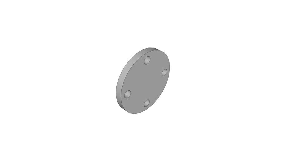 AGRU_35334206300_PVDF UHP natur_Blindflansch ohne Stahleinlage_63_115