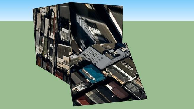 日本东京市品川区的建筑模型