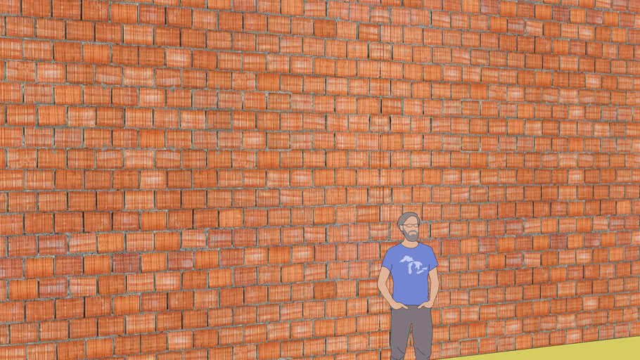 BRICKS WALL POROTON REALISTIC SEAMLESS TEXTURE FOR BUILDING CM 19X25X30