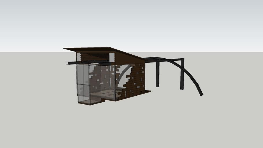Modern japanese tea house