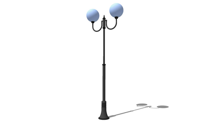 "Уличный фонарь Сити 2 плафона  3200 мм / Streetlight ""City"" street 2 light 3200 mm"