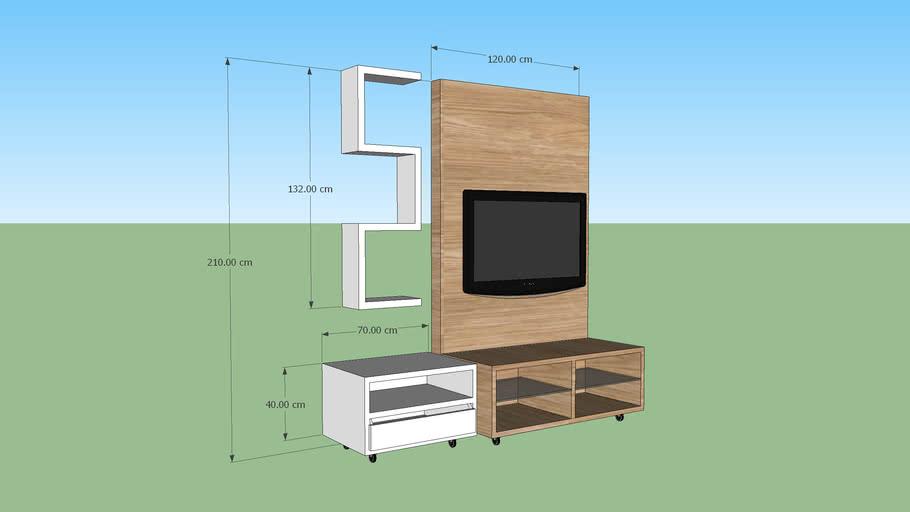 Rack modular para TV LCD 40 polegadas 3.2