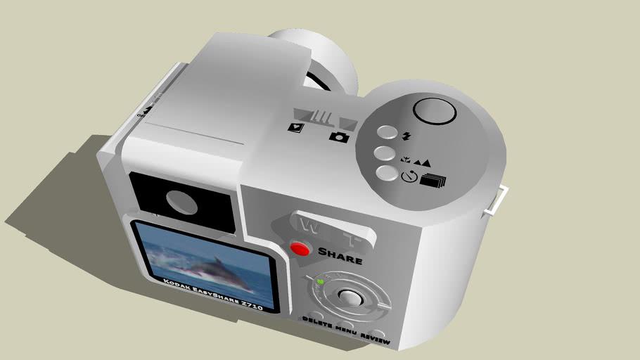 Kodak EasyShare Z710 Zoom Digital Camera - Back And Top View