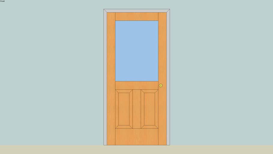 Entry Door - wood, 2 panel with window