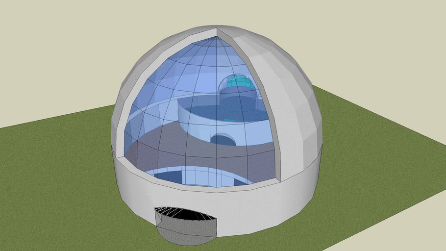dome house with window
