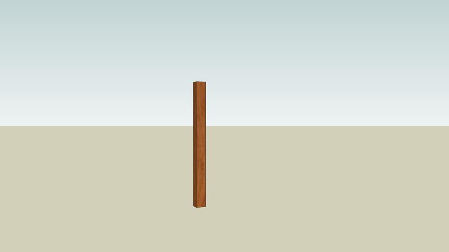 4x4 wood post 4 feet long