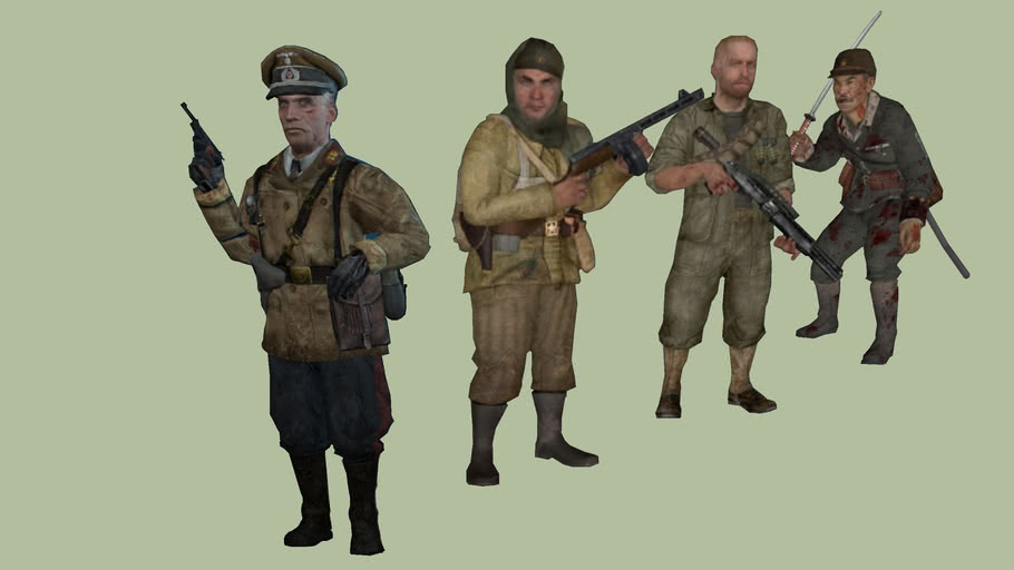 Black Ops Zombie Kino Der Toten Characters 3d Warehouse