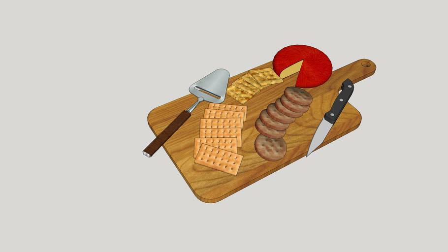 Utensílios de cozinha - Tábua com queijos