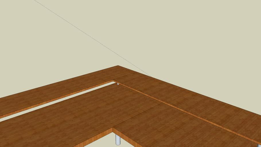 Corner desk for computer