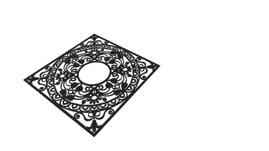 Приствольная решётка (квадратная) Р-04