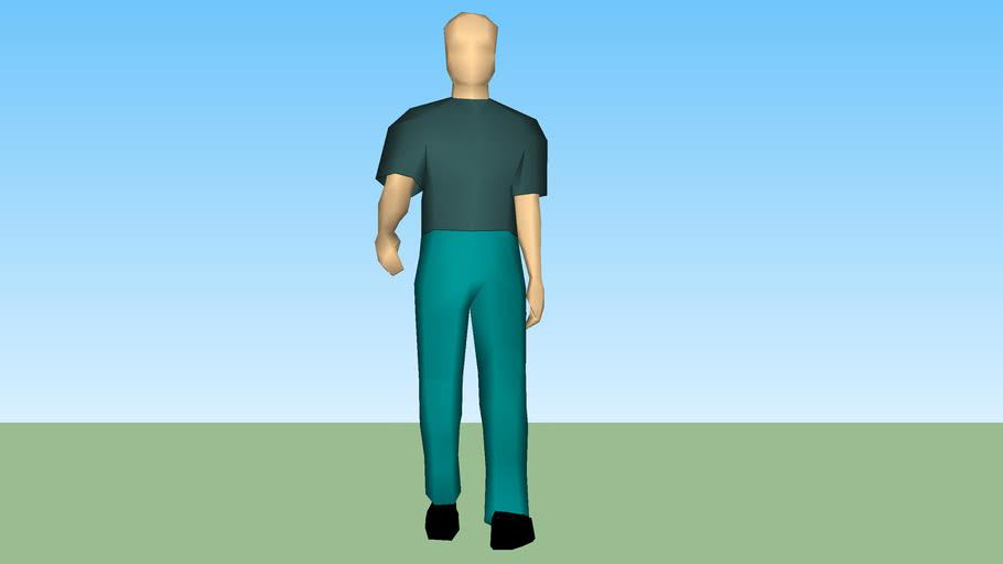 Homme 3D marchant n°2