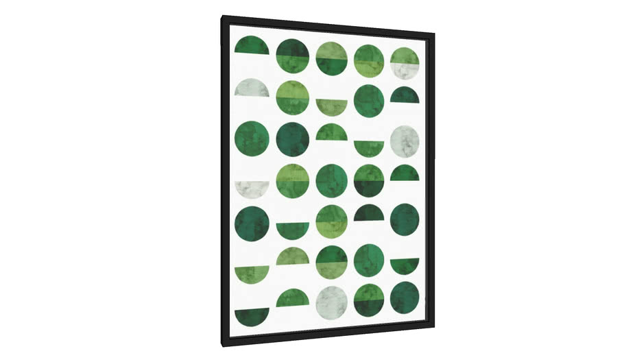 Quadro Círculos verdes I - Galeria9, por Arte Decor
