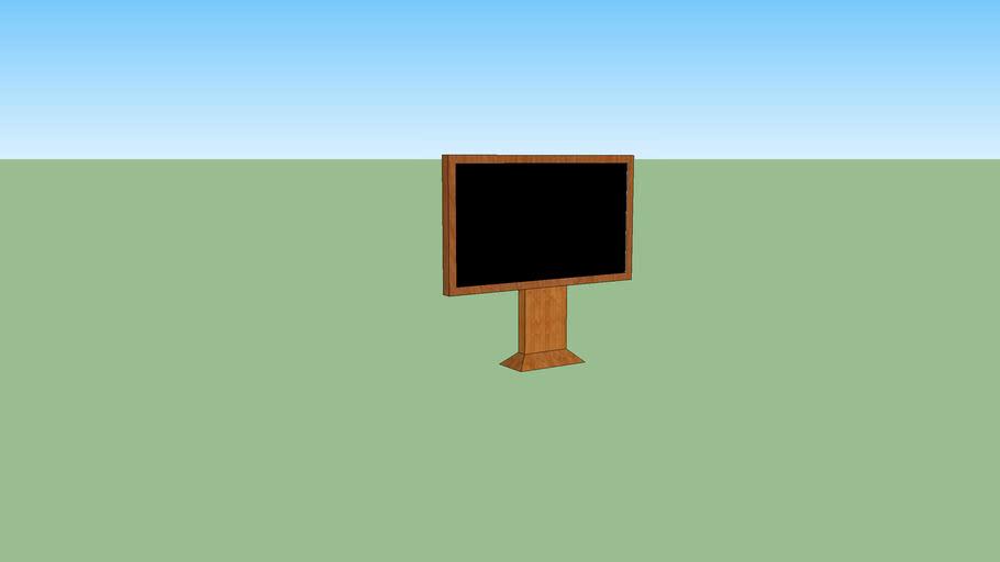 Téléviseur à écran plat moderne