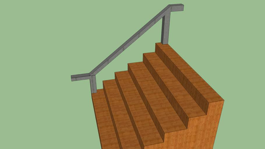 staircase w/ rail