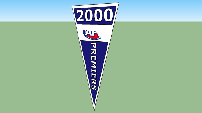 2000 AFL PREMIERSHIP FLAG