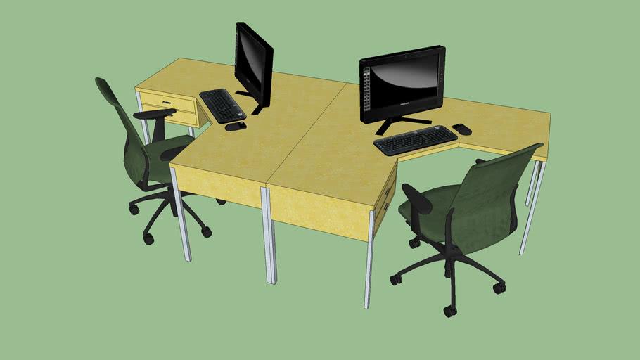 mesa escritorio dupla