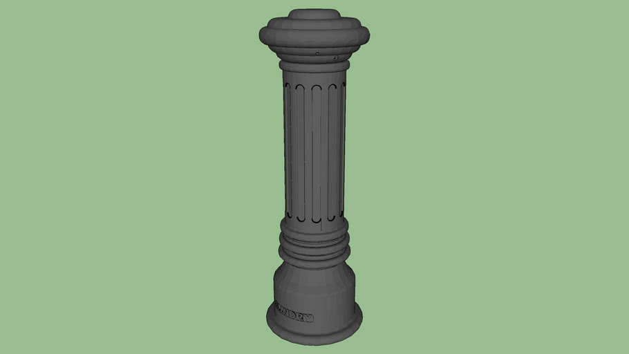 R-7591 Fluted Ductile Iron Bollard