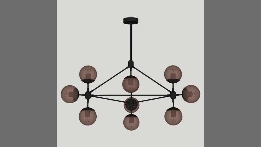 Pendente Moderno Preto Volans 10 Lâmpadas PD7701 – 10.000