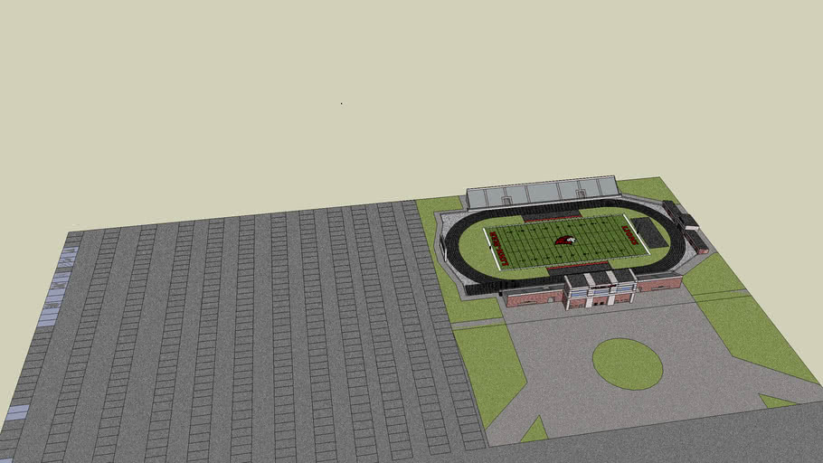 500 space parking lot