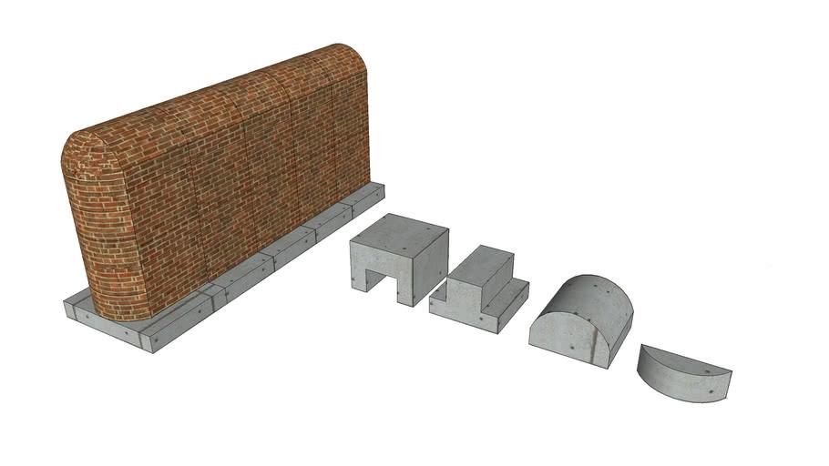 Interlocking Walls without dowel bars
