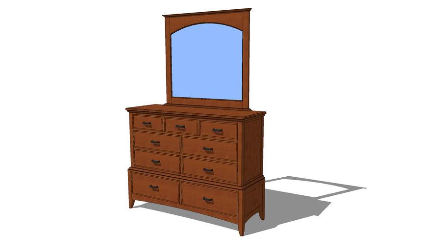 Modern Shaker Dresser & Mirror